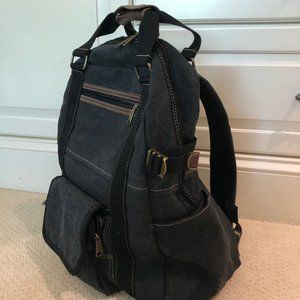 New! Cargoit Grey Canvas Backpack